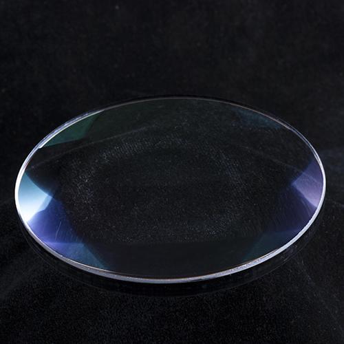 Flat convex optical lens