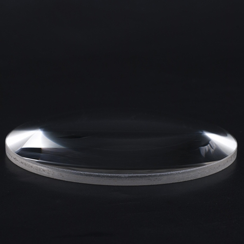 Flat convex optical lens